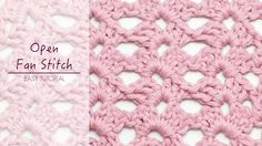 How To: Crochet The Open Fan Stitch - Hopeful Honey Crochet Stitches Patterns, Knitting Stitches, Crochet Designs, Stitch Patterns, Crochet Crafts, Crochet Yarn, Crochet Hooks, Free Crochet, Crochet Projects
