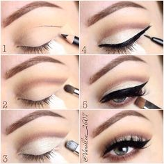 If you would like transform your eyes and also increase your appearance, finding the best eye make-up tips and hints can help. You'll want to make certain you wear make-up that makes you look even more beautiful than you already are. Makeup Goals, Love Makeup, Hair Makeup, Perfect Makeup, Easy Makeup Looks, Pin Up Makeup, Makeup Brush, Simple Everyday Makeup, Everyday Makeup Tutorials