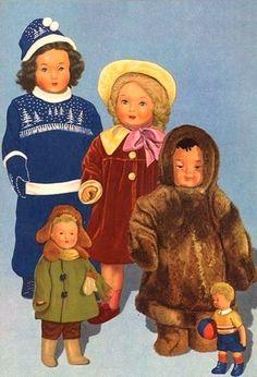Russian dolls. 1950s.
