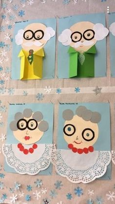 Grandparents Day Poem, Grandparents Day Activities, Preschool Crafts, Diy And Crafts, Crafts For Kids, Paper Crafts, Fathers Day Crafts, Fall Diy, Kids Education