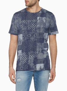 Faded mosaic T-shirt Vintage Design, Palm Springs, Print Patterns, Mosaic, T Shirt, Men Casual, Tie, Denim, Prints