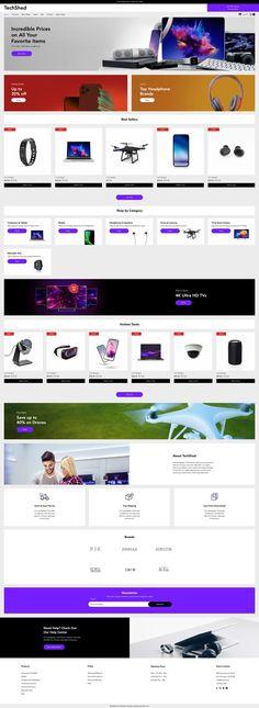 Wix Website Template | Electronics Shop Website Template