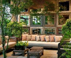Outdoor Rooms, Outdoor Living, Outdoor Decor, Backyard, Patio, Store Design, Indoor Plants, Living Spaces, Home And Garden