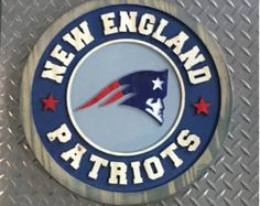 New England Patriots Carved Sign by MotorcityDesign on Etsy