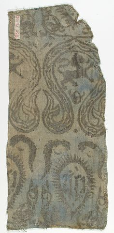 Textile Date: 13th–14th century Culture: German Medium: Linen Classification: Textiles-Printed