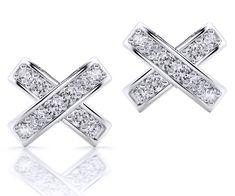 Cercei AC137 - Cercei lucrati in aur alb de 18kt cu 20 diamante (1.25mm) avand un carataj total de 0.18ct. Aur, Diamond Jewelry, Detail, Diamond Jewellery