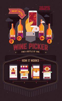 Wine Picker. Site illustrations on Behance