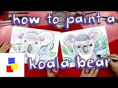 How To Paint A Koala Bear (watercolor pencils) - Art For Kids Hub - Watercolor Pencil Art, Bear Watercolor, Watercolor Ideas, Art For Kids Hub, Art Hub, Painting For Kids, Drawing For Kids, Bear Paintings, Clay Art Projects