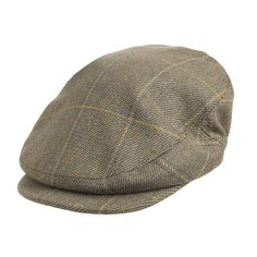 Olney Hats Bond Hunter Flat Cap - Sage from Village Hats.