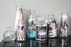 Easily turn your photos into a unique display using glass bottles! Order your Photo Prints now from Bonusprint.