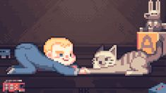 Mesmerizing pixel animation by  Alexis Morille