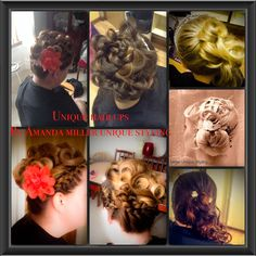 Here is some wedding hair in which I have created
