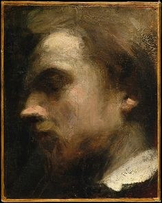 Henri Fantin-Latour (French, 1836–1904). Self-Portrait, ca. 1858. The Metropolitan Museum of Art, New York. Catharine Lorillard Wolfe Collection, Wolfe Fund, 1995 (1995.91) | At the beginning of his career, between 1854 and 1861, Fantin-Latour executed a large number of self-portraits in chalk, charcoal, and oil.
