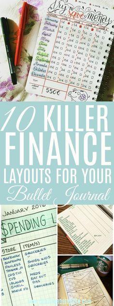 11 Life-Saving Bullet Journal Ideas That Will Get Your Finances In Order #bulletjournal #finance #chasingabetterlif