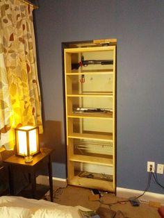 How to build a hidden door bookcase