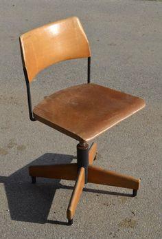 chaise bois industrielle