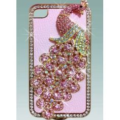 Amazon.com: 1x Luxury Designer Bling Crystal Pink Peacock on Pink Case for Apple Iphone 4 and 4s [Limited Edition]: Cell Phones & Accessories