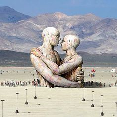 The Pier Group is raising funds for Embrace, Burning Man 2014 on Kickstarter! Embrace is a 72 ft wooden cathedral-like sculpture of two human figures, in celebration of all our relationships for Burning Man Burning Man 2014, Burning Man Art, Burning Man Sculpture, Henri Matisse, Art Et Design, Jolie Photo, Another World, Land Art, Man Photo