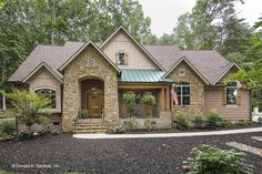 The Baskerville Home Plan 1312 Take a video tour of The Baskerville House Plan Mixed materials and arches create rich texture in this European style home plan. Rustic House Plans, Southern House Plans, Craftsman Style House Plans, Ranch House Plans, Cottage House Plans, Modern House Plans, Farmhouse Plans, Small House Plans, Cottage Style Houses