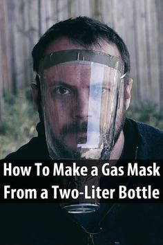 In this video, Black Scout Survival makes a gas mask with a bottle, a can, rubber bands, cotton rounds, duct tape, medical tape, and activated charcoal.
