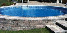 Metric - Semi inground pool
