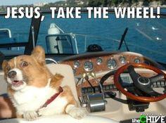Jesus! Take the wheel!
