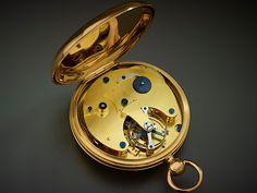 Abraham-Louis Breguet / Antoine-Louis Breguet / Gold Pocket Watch with TourbillonParis, c. 1820 / gold, gilt-brass, and steel Old Pocket Watches, Carriage Clocks, Latest Watches, Luxury Watch Brands, Grandfather Clock, Antique Clocks, Accessories, Collection, Design Interiors