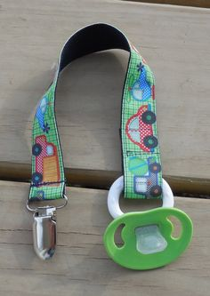 Pacifier Holder Vehicles Pacifier Clip Cars and by GabbysQuilts