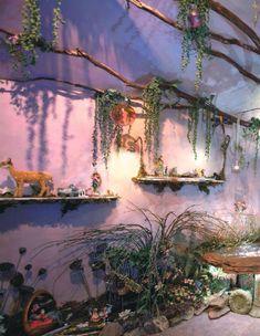 "voiceofnature: ""Faerie Haven by Devajoy Gouss and Julie Jumper from Faerie Magazine "" Fairytale Bedroom, Fairy Bedroom, Fairy Theme Room, Enchanted Forest Bedroom, Dream Rooms, Dream Bedroom, Deco Disney, Fantasy Rooms, Fantasy Bedroom"