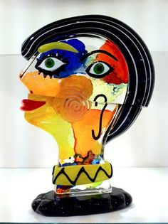 Murano Glass Sculptures Pacas O Heads | In this aspect glass ...