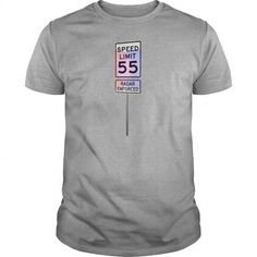 Cool 55 MPH Speed Limit with flashing police lights Sportswear T-Shirts