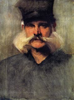John Singer Sargent (American, 1856-1925), Study of a Man Wearing a Tall Black Hat, 1880. Oil on canvas, 61 x 46 cm