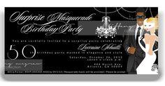 50th Birthday Masquerade Invitation Male Version by TiffanyMcGraw, $2.10