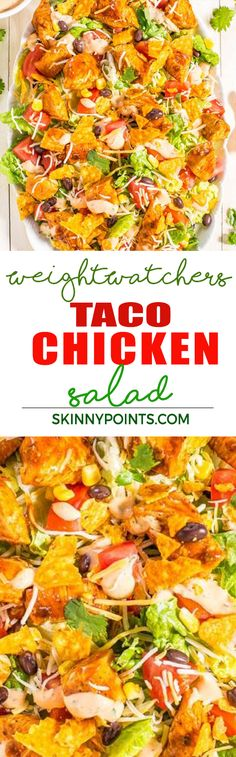 Taco Chicken Salad Recipe With Only 5 Weight Watchers Smart Points