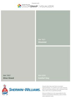 I just created this color palette with the Sherwin-Williams ColorSnap® Visualizer app on my Android phone. You can learn more about ColorSnap Visualizer and get it on your phone fre