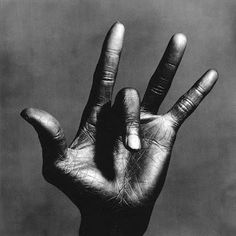 Miles Davis's hand by Irving Penn