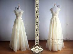 Abendkleider - hellgelb Abschlussballkleid Organza-Abendkleid - ein Designerstück von ZitaaYoung bei DaWanda