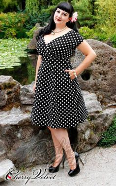 48369c5734 If you re looking for the perfect little black  n  retro dress. Our classic  polka dot print is so timeless it will never go out of style