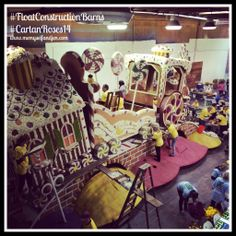 The Float Construction Barns are incredible - watching the float all being assembled BY HAND is an amazing labor of love!