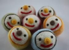 Needle Felted smile ball