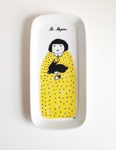 Le Lapin Yellow Platter
