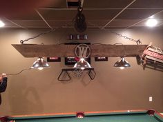Light fixture pool billiards table light by frontporchblues pool table light project i just completed very happy with the results and so greentooth Choice Image
