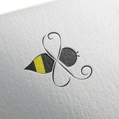 Logo for a Client /. Honey Logo for a Client /. Honey Logo for a Client /. Abstract Bee Update by farakh This logo is made with circles to convey a sense of perfectionism, . Bee Drawing, Painting & Drawing, Body Art Tattoos, Small Tattoos, Tattoo Arm, Cat Tattoo, Tatoos, Honey Bee Tattoo, Bumble Bee Tattoo