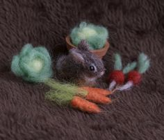 Micro Bunny Cottontail with Vegetables 1/12 scale