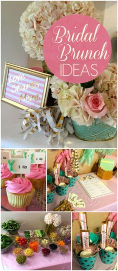 "Need ideas for a bridal shower? This one has ""I Do"" cupcakes and an amazing salad bar! See more party ideas at CatchMyParty.com!"