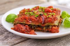 Vegan Kale Lasagna- So epically delicious. I am going to be making this a lot more.