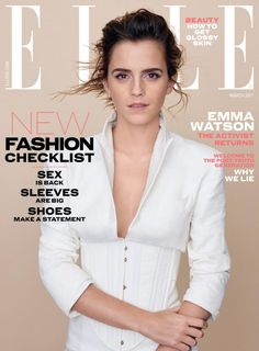 Emma Watson on cover of Elle UK - March 2017