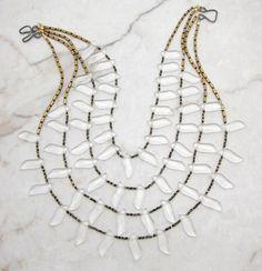 Statement Necklace.Multi Strand Bib.Bohemian Necklace.Tribal Necklace.Fringe…