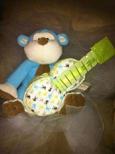 Guitar diaper cake.