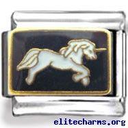 Black and White Unicorn Enamel Charm White Unicorn, Enamel, Charmed, Black And White, Animals, Vitreous Enamel, Animales, Animaux, Enamels